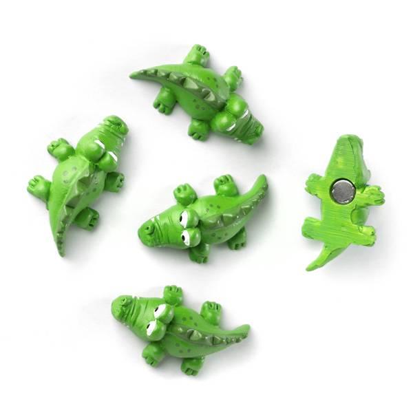 Magnete KROKO 5er Set grün