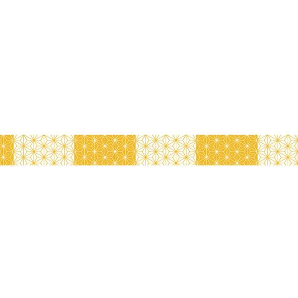 Masking tape MASTÉ MULTI Yellow Asanoha 15 mm