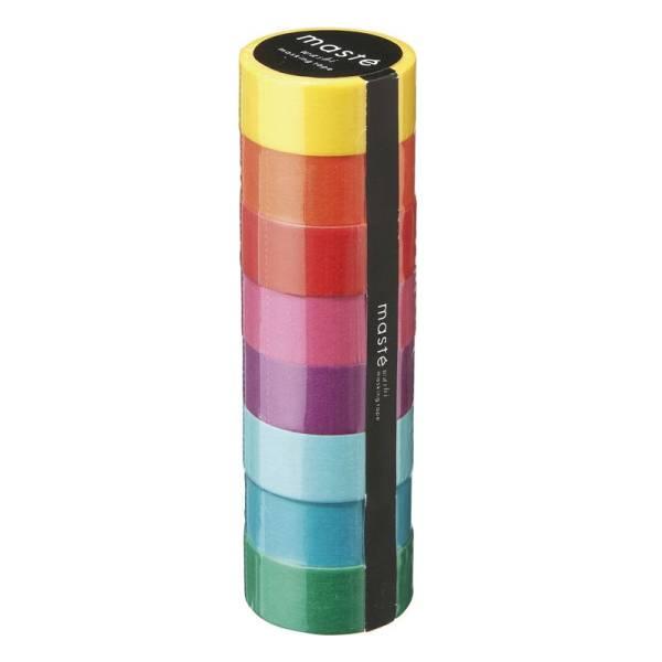 Masking tape MASTÉ BASIC color mix 1 Set à 8 Rollen