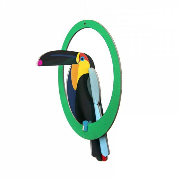 POP OUT CARD SWINGING TOUCAN