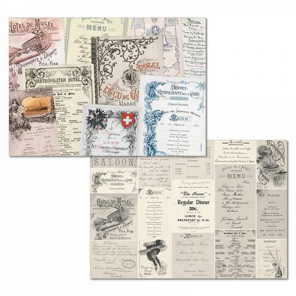 Papiertischset MENU 2 Sujets à 25 Blatt