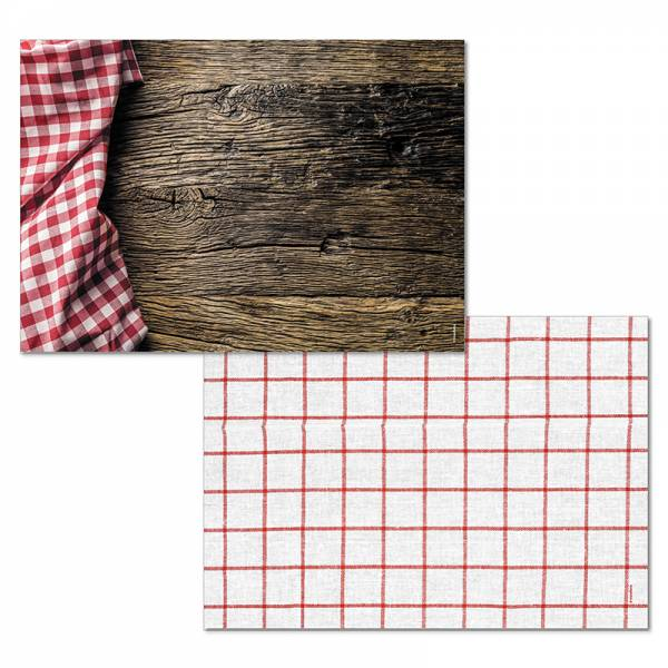 Papiertischset HÜTTENZAUBER Mehrfachblock - 2 Sujets à 25 Blatt