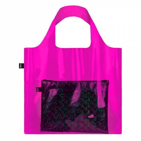 Tasche TRANSPARENT pink (offen, ohne Beutel, ohne roll & snap)