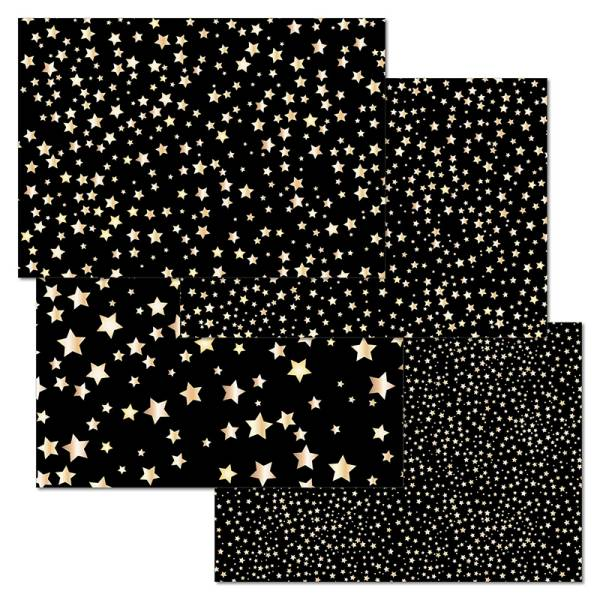 Papiertischset STARRY NIGHT 4 Sujets à 12 Blatt