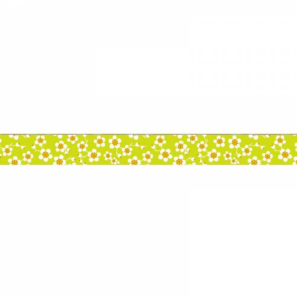 Masking tape MASTÉ MULTI Green Plum flower 15 mm