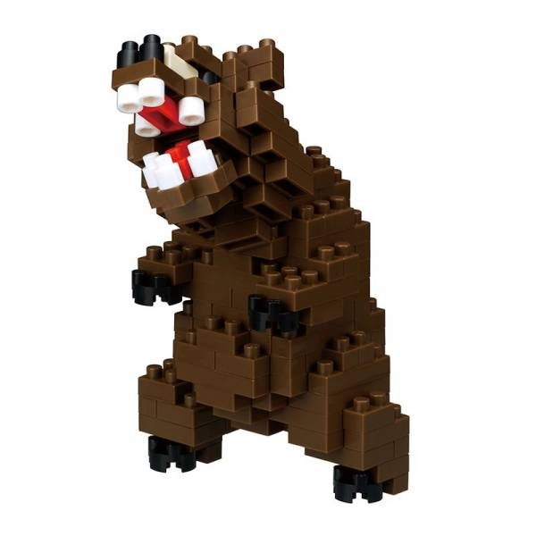 Mini NANOBLOCK Grizzly Bear
