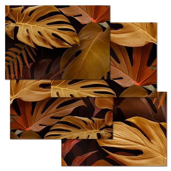 Papiertischset GOLDEN BROWN 4 Sujets à 12 Blatt