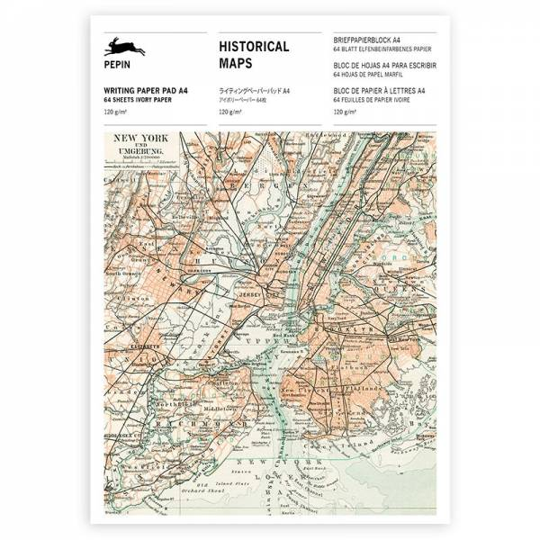 A4 Writing Paper Pad HISTORICAL MAPS