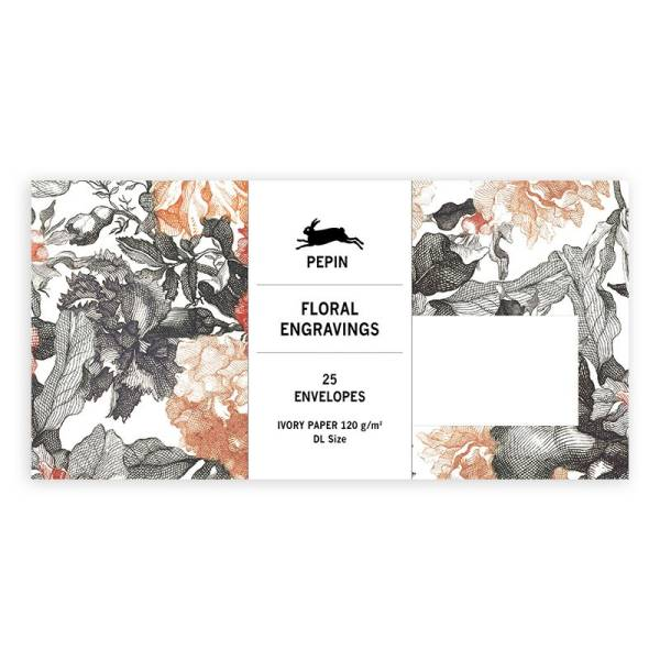 Envelopes FLORAL ENGRAVINGS