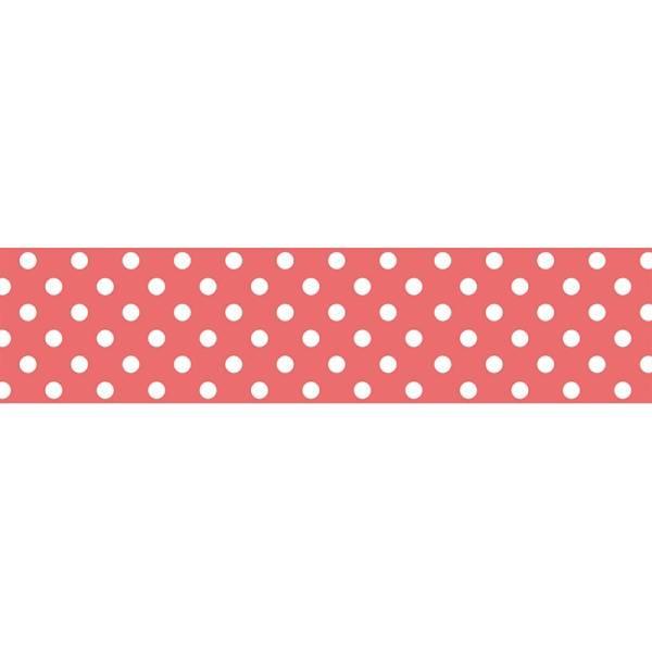 Masking tape MASTÉ BASIC Neon Red/Dot 15 mm