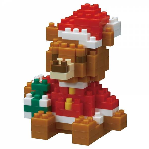 Mini NANOBLOCK Christmas Bear