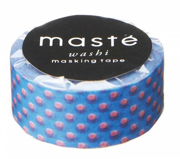 Masking tape MASTÉ BASIC neon blue/ polka dots