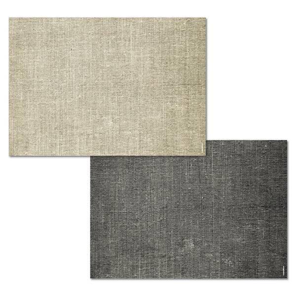 Papiertischset LINEN beige/schwarz 2 Sujets à 25 Blatt