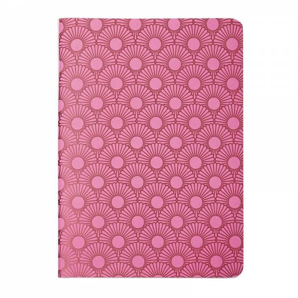 Heft A6 Metallic DAISY pink, kariert