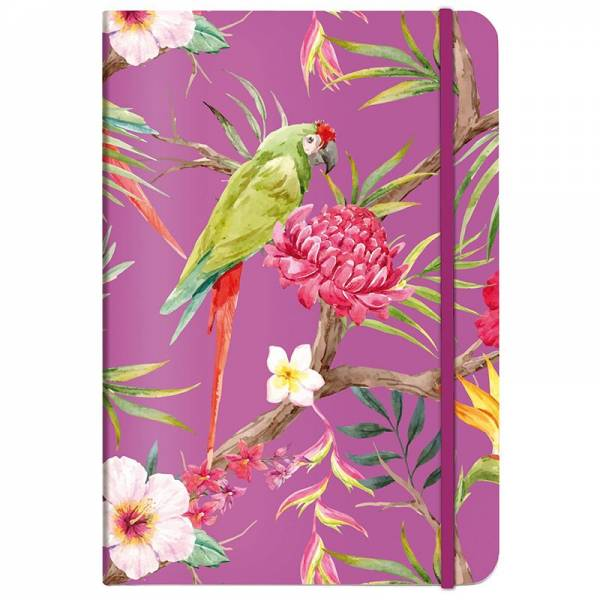 Notizbuch A5 TROPICAL fuchsia