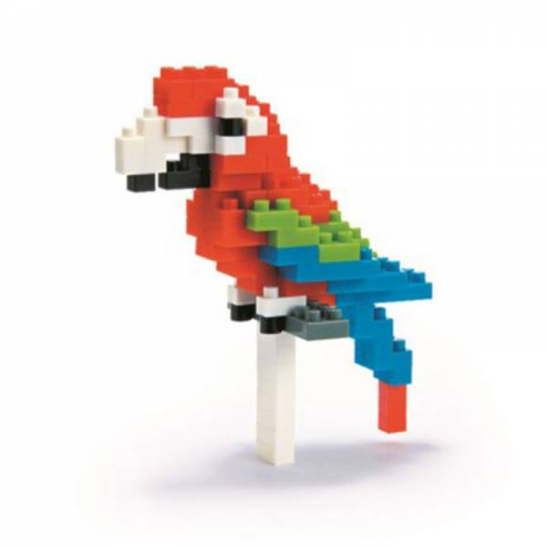 Mini NANOBLOCK Red-and-green Macaw