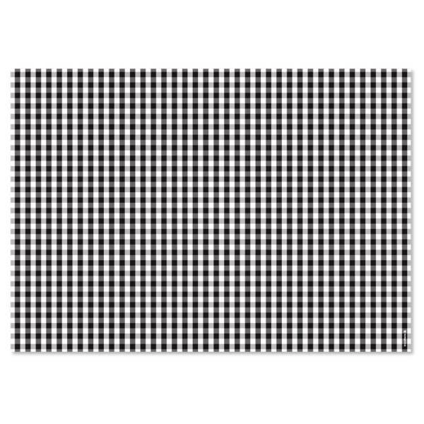 Papiertischset VICHY schwarz Block mit 50 Blatt