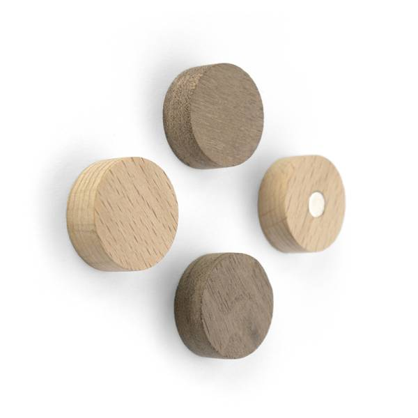 Magnete WOOD ROUND 4er Set