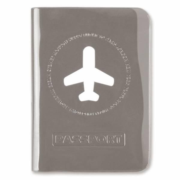 HAPPY FLIGHT PASSPORT COVER grau