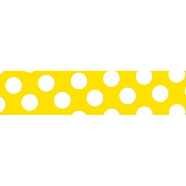 Masking tape MASTÉ BASIC Yellow/Dot 15 mm