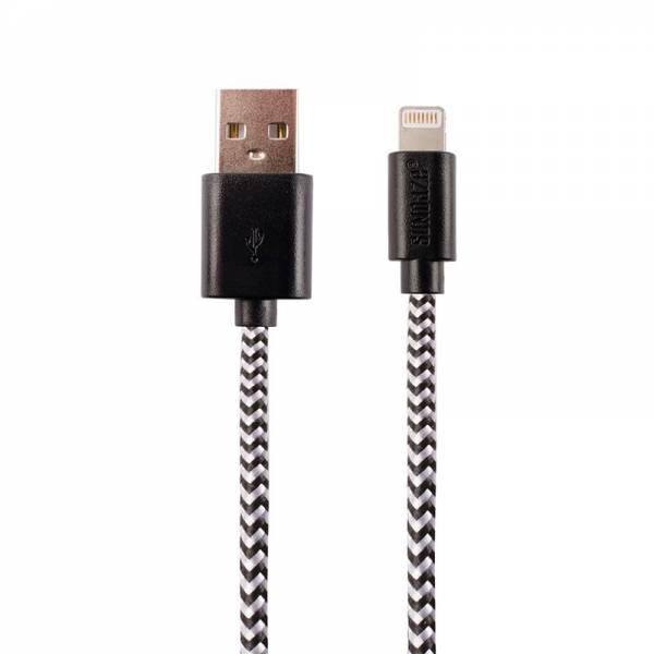 CHARGING CABLE 8-PIN black (Apple)