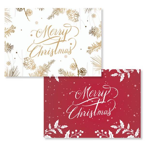 Papiertischset MERRY CHRISTMAS 2 Sujets à 25 Blatt